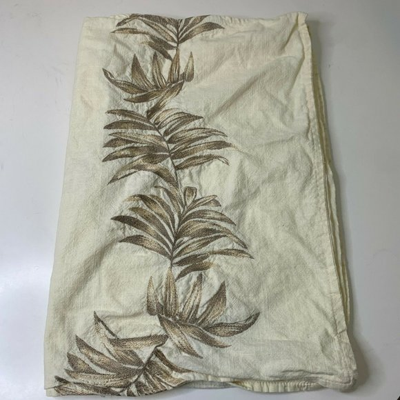 Tommy Bahama pillowcase 100% cotton beige embroide